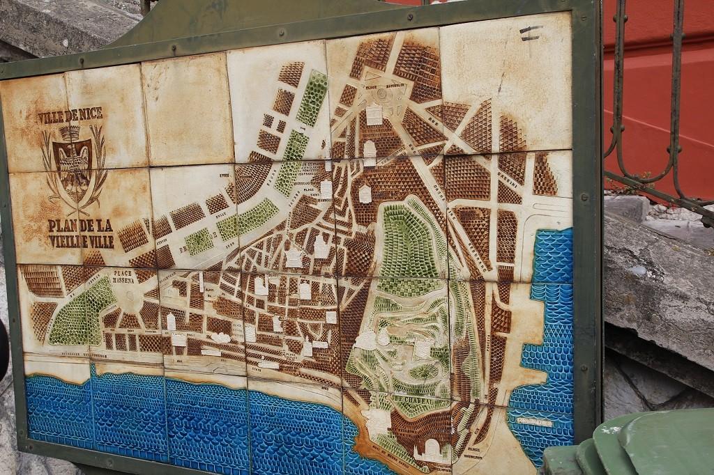 Bu da eski Nice'in afili haritası