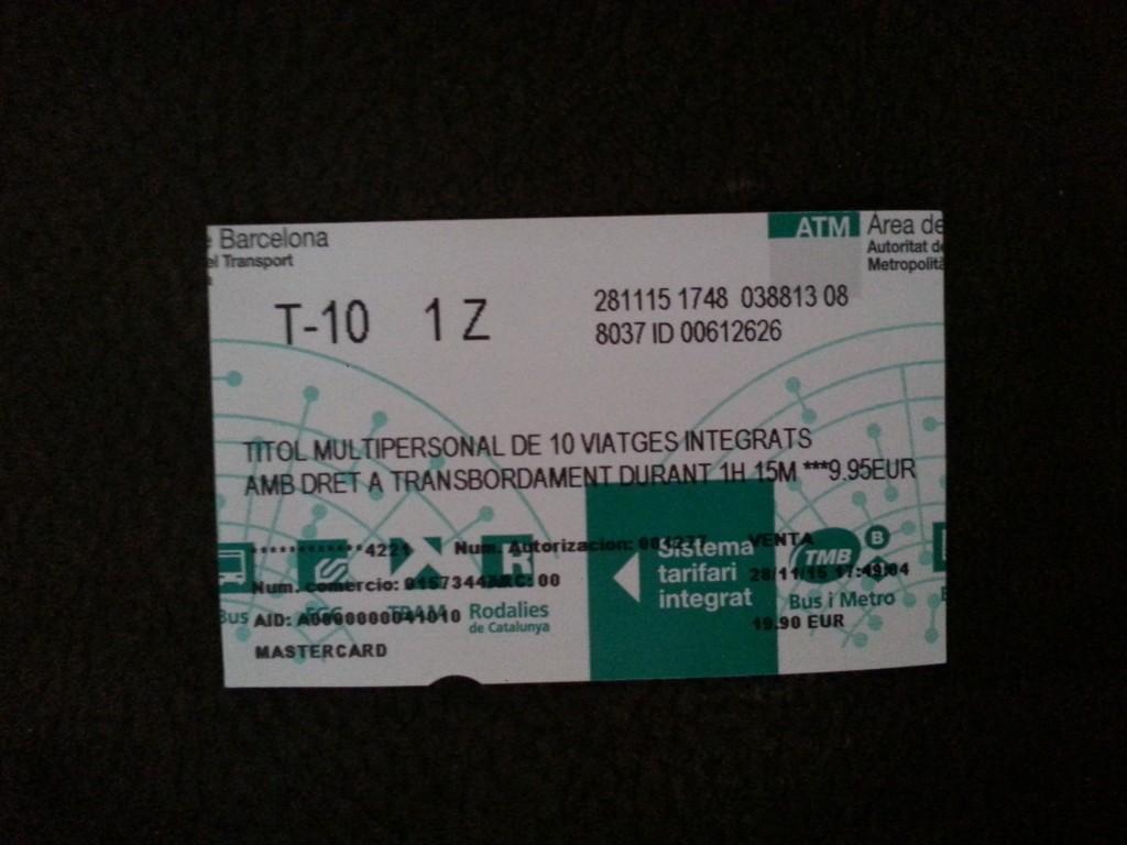 Barselona Metro Bileti